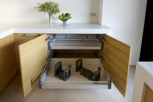 格蘭登廚具 現代極簡系列 實木薄片烤漆 台北作品 收納