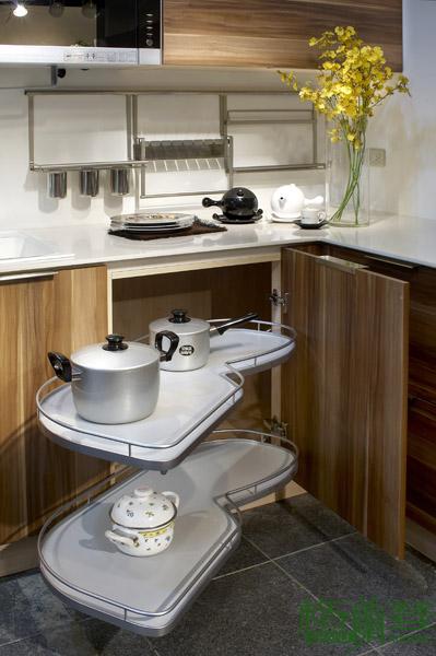 格蘭登廚具 現代極簡系列 MFC木紋 台北作品 貼心轉盤