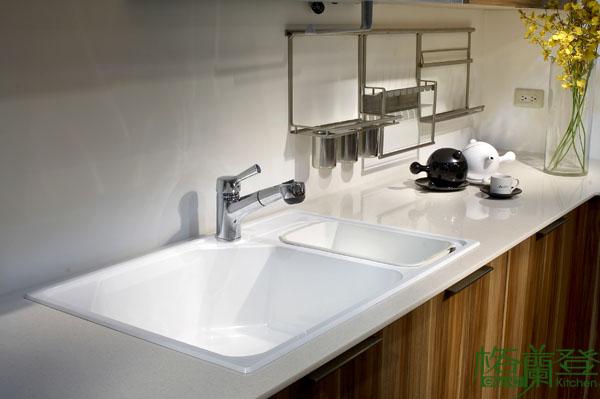 格蘭登廚具 現代極簡系列 MFC木紋 台北作品 德國Blanco水槽與龍頭