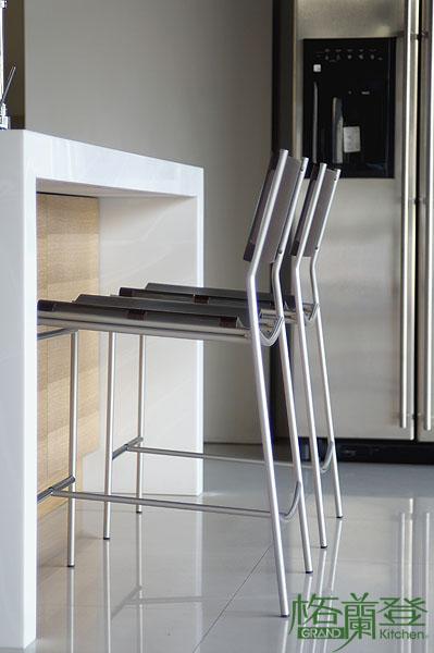 格蘭登廚具 現代極簡系列 實木薄片烤漆 台北作品 中島區