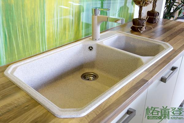 格蘭登廚具 現代極簡系列 陶瓷烤漆 台北作品 德國Blanco水槽