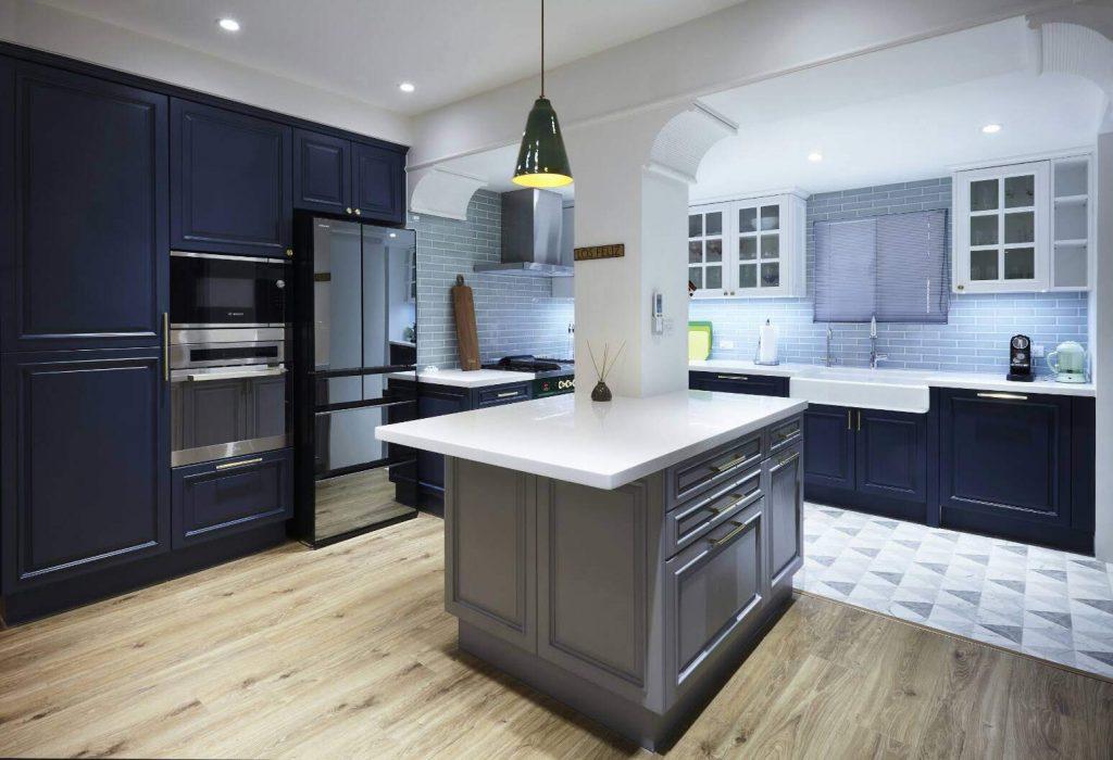 當復古雜揉現代—隱身台北老公寓的美式風格夢幻廚房