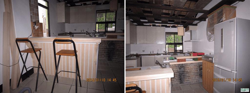 廚房改建 新竹2015陳先生 木工施作