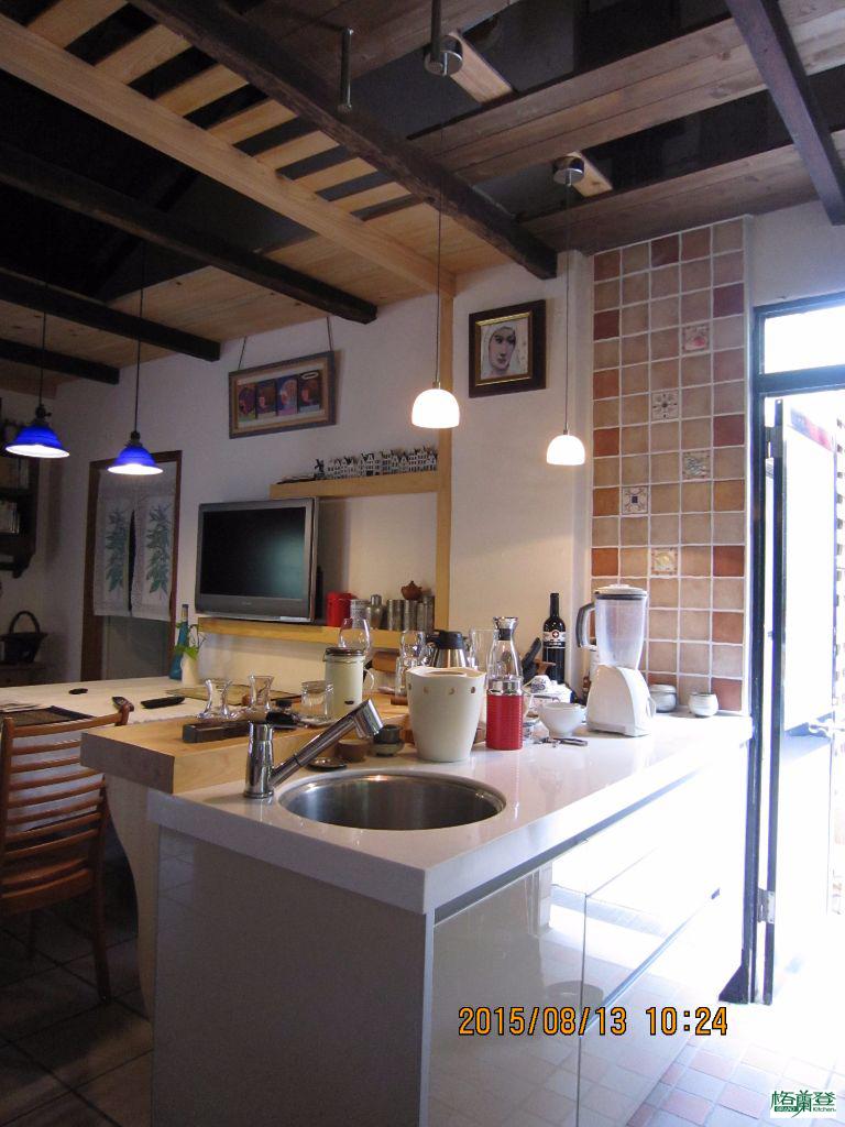 廚房改建 新竹2015陳先生 吧檯後櫥櫃