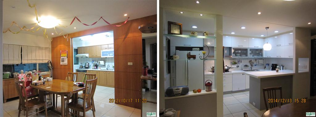 廚房改建 新竹2016 劉太太 新舊對照