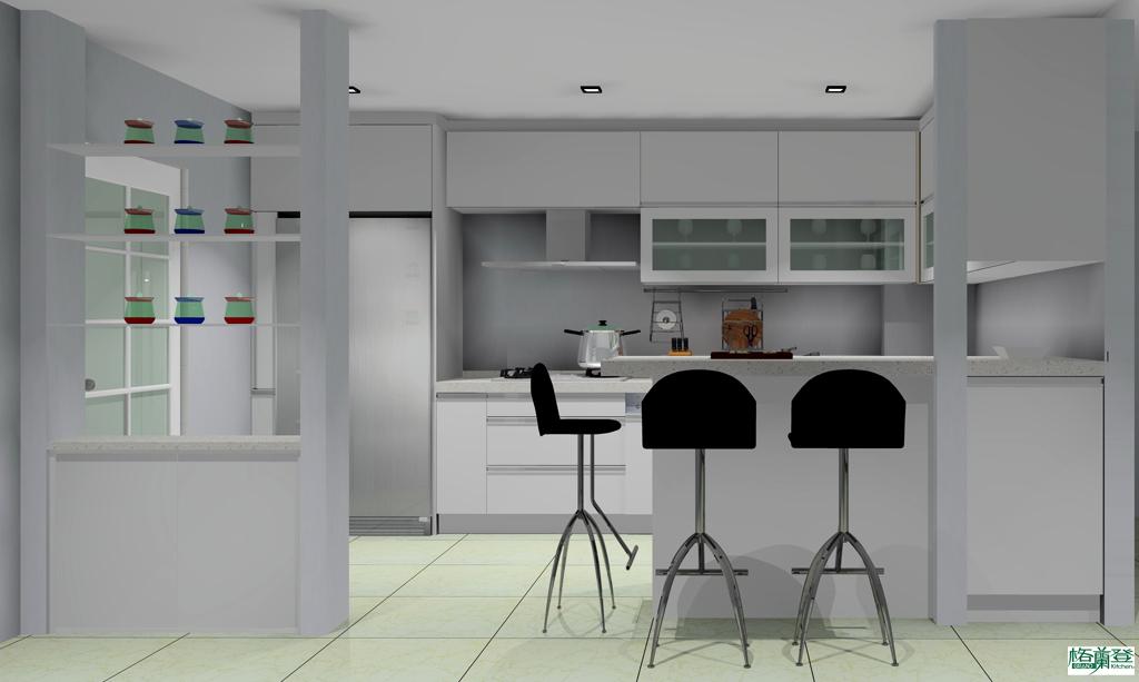 廚房改建 新竹2016 劉太太 白色門片彩色圖