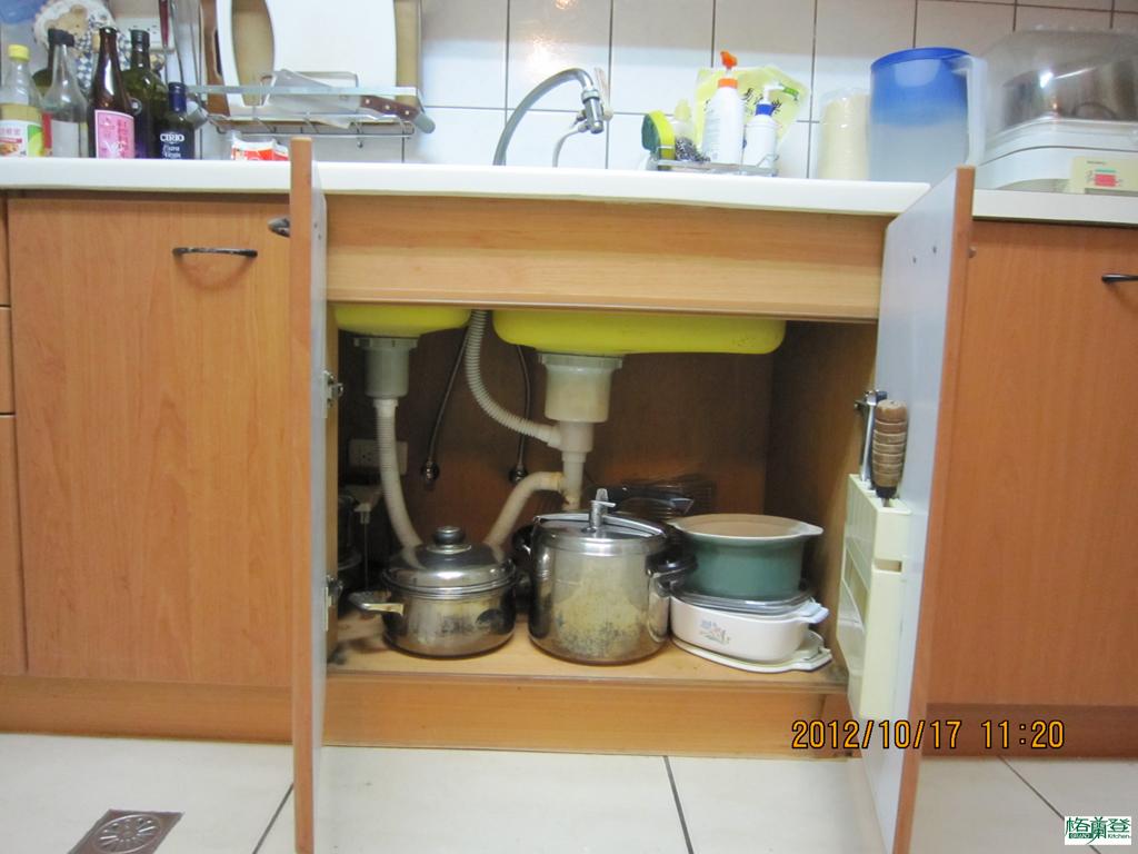 廚房改建 新竹2016 劉太太 排水與進水管線