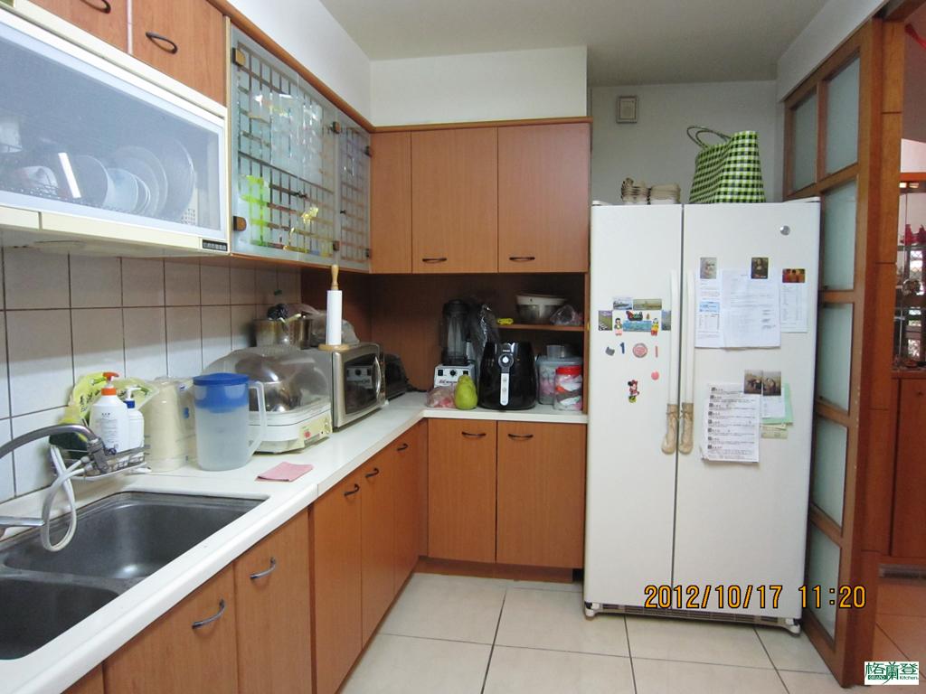 廚房改建 新竹2016 劉太太 原廚房 電器與冰箱