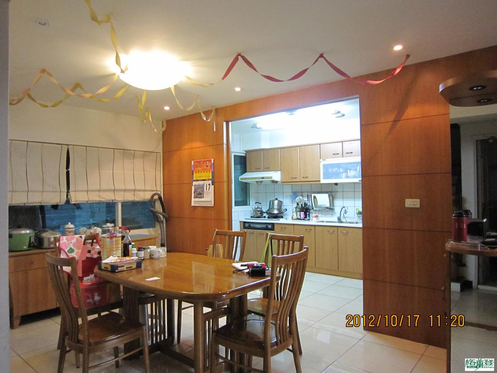 廚房改建 新竹2016 劉太太 原廚房 由餐廳位置拍攝