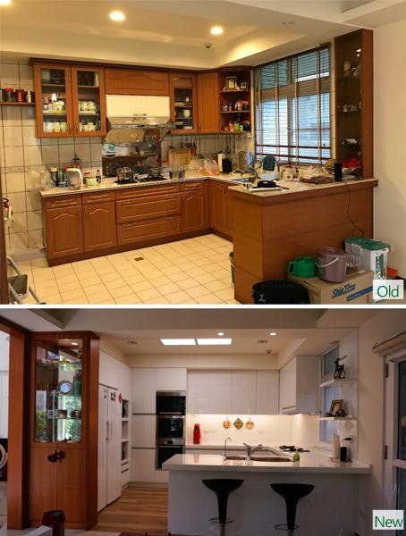新舊廚房對照