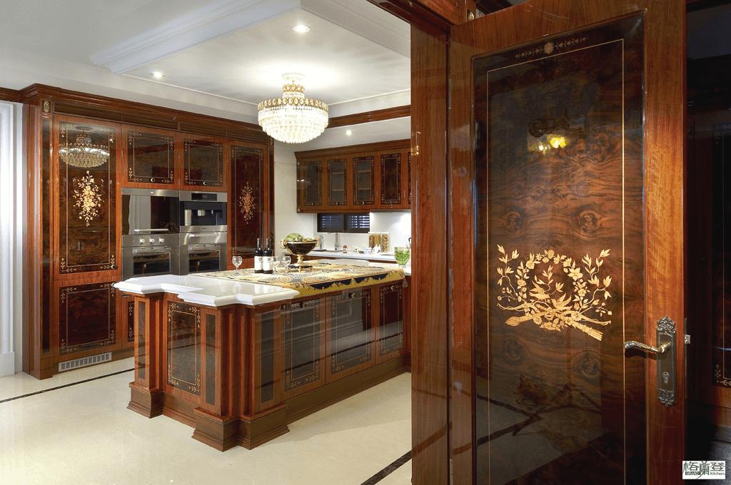 格蘭登台北門市案例 2010 古典奢華 廚房與木門