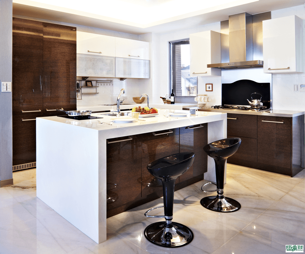 格蘭登台北門市案例 2010實木薄片烤漆 攝影廚房