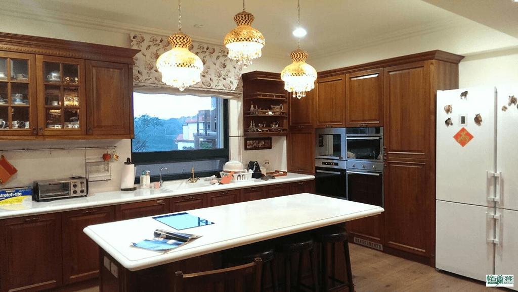 格蘭登台北門市案例 2014 古典柚木 廚房