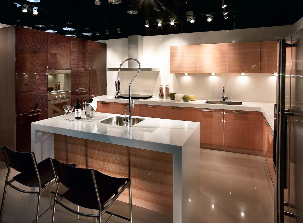 格蘭登廚具 現代極簡系列 實木薄片烤漆 台北作品 全圖
