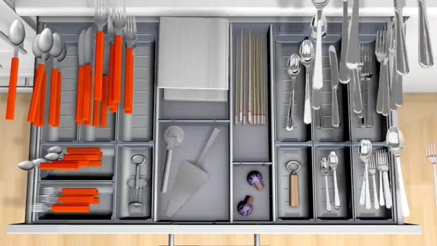 廚房知識分享 Blum筷子叉子湯匙收納