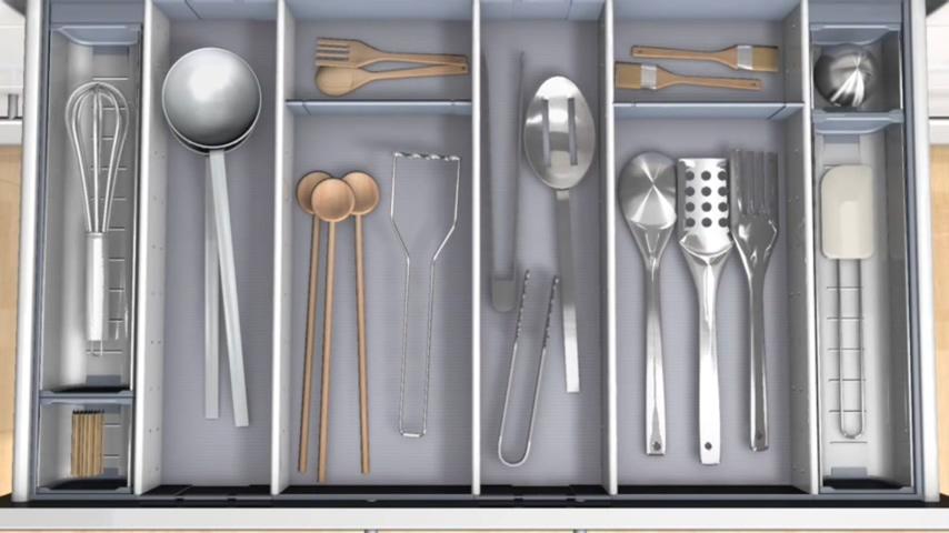 廚房知識分享 Blum內部分隔系統可置換位置