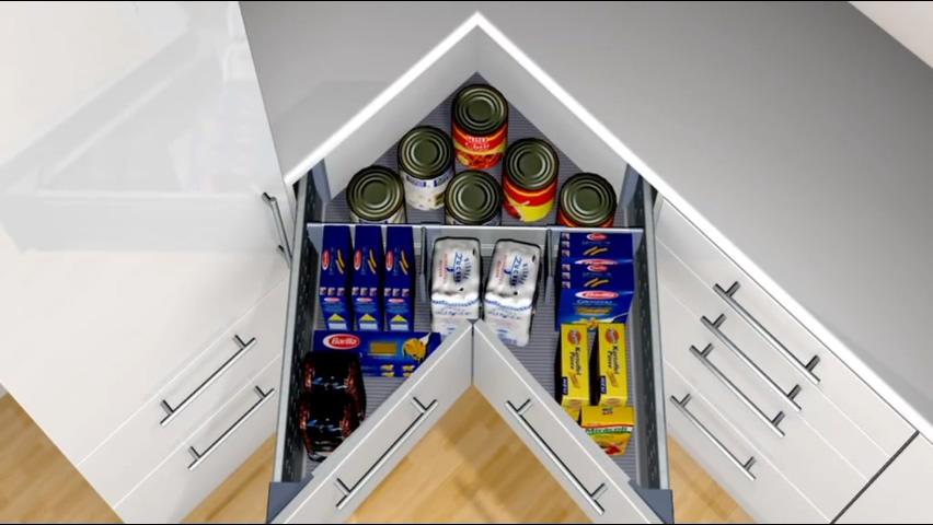 廚房知識分享 Blum轉角抽屜收納
