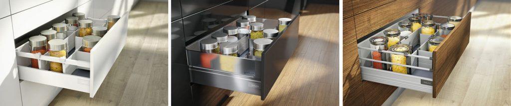 廚房知識分享 Blum內部分隔系統三種材質