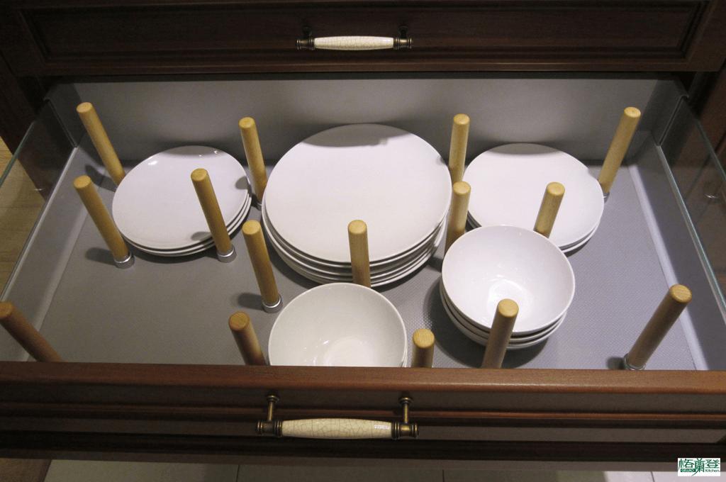 格蘭登廚具 古典實木系列 柚木 新竹作品 碗盤大抽