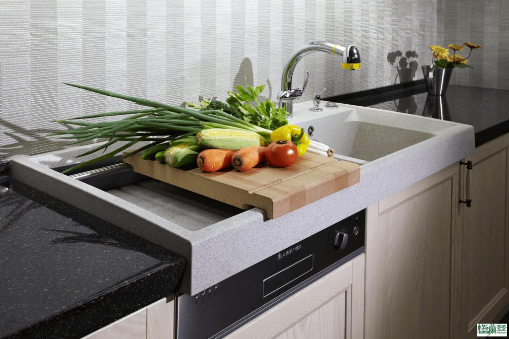 格蘭登廚具 古典實木系列 栓木 新竹作品 德國Blanco獨立式水槽