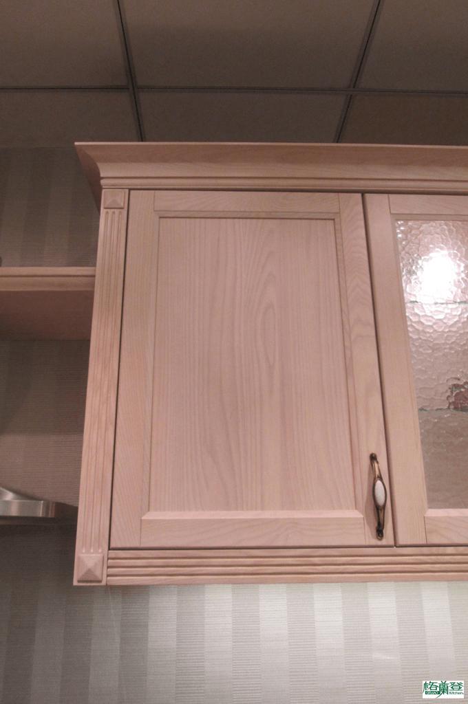 格蘭登廚具 古典實木系列 梣木 新竹作品 柱體與上下飾板