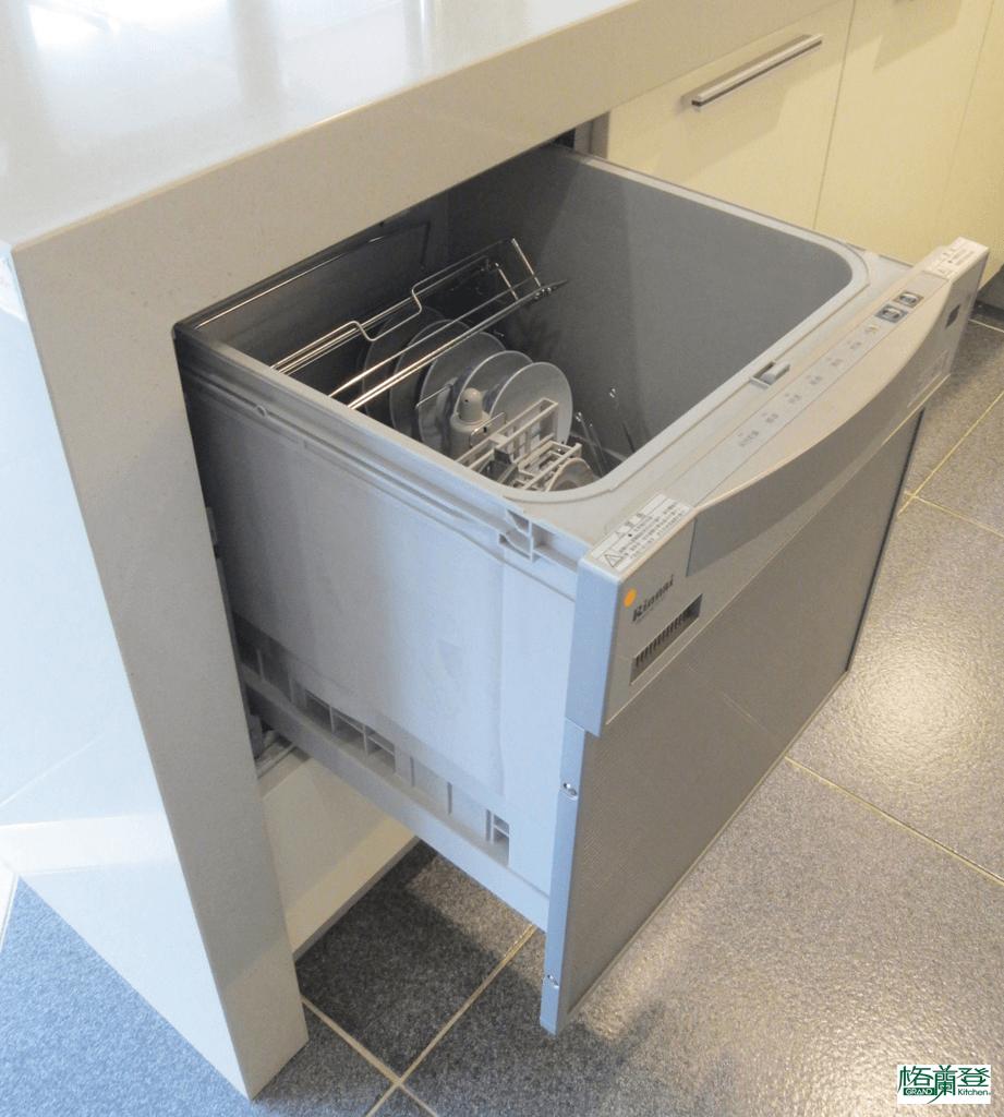 格蘭登廚具 現代極簡系列 陶瓷烤漆 新竹作品 林內抽屜型洗碗機