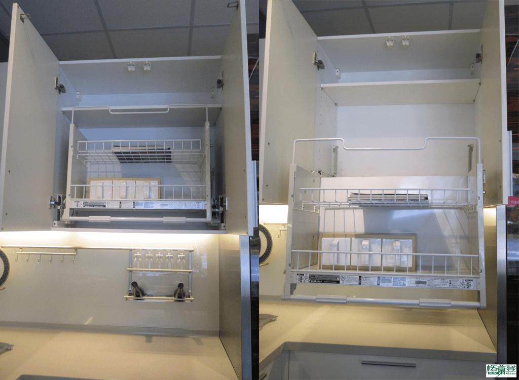 格蘭登廚具 現代極簡系列 陶瓷烤漆 新竹作品 可下拉儲物架