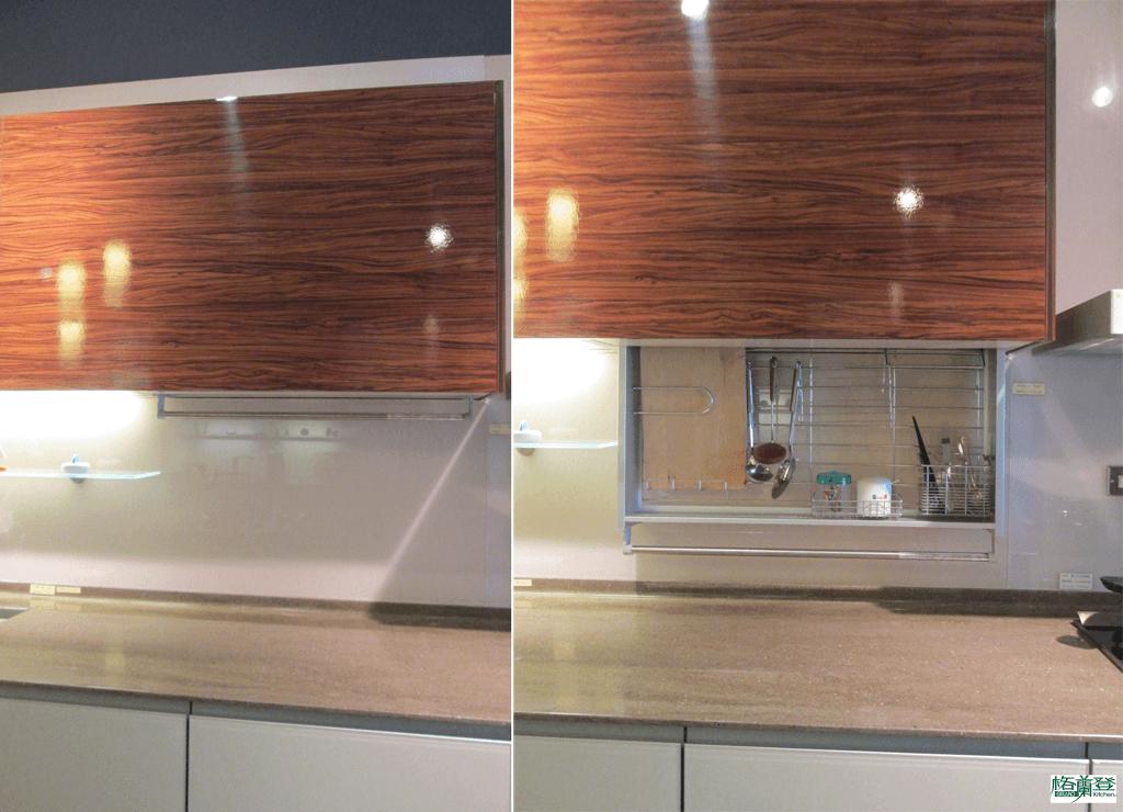 格蘭登廚具 現代極簡系列 烤漆玻璃 新竹作品 調味料升降櫃