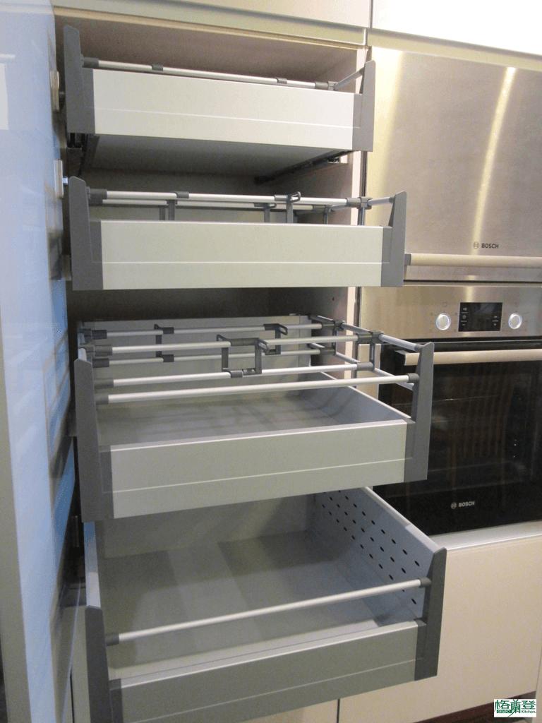 格蘭登廚具 現代極簡系列 烤漆玻璃 新竹作品 零食乾貨收納櫃