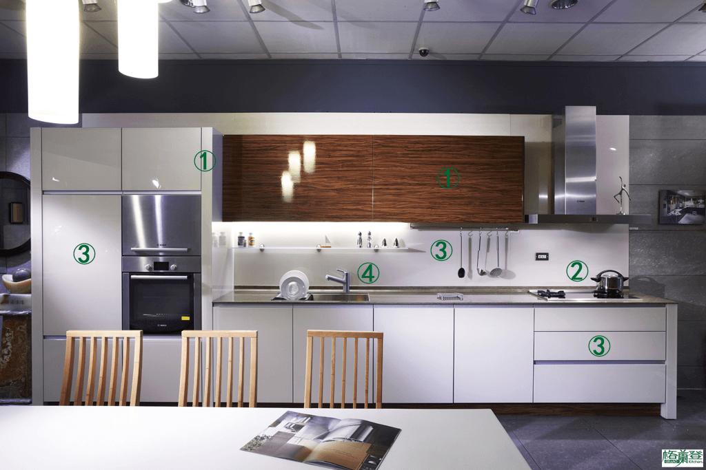 格蘭登廚具 現代極簡系列 烤漆玻璃 新竹作品 特色指引圖