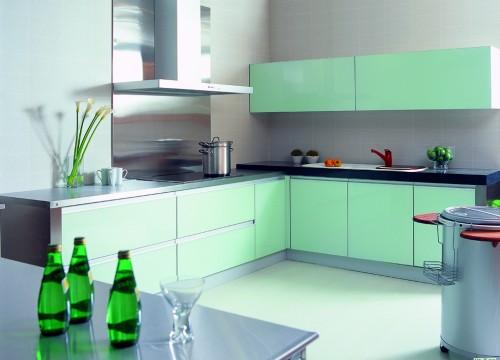格蘭登廚具 現代極簡系列 烤漆玻璃 台北作品 主圖