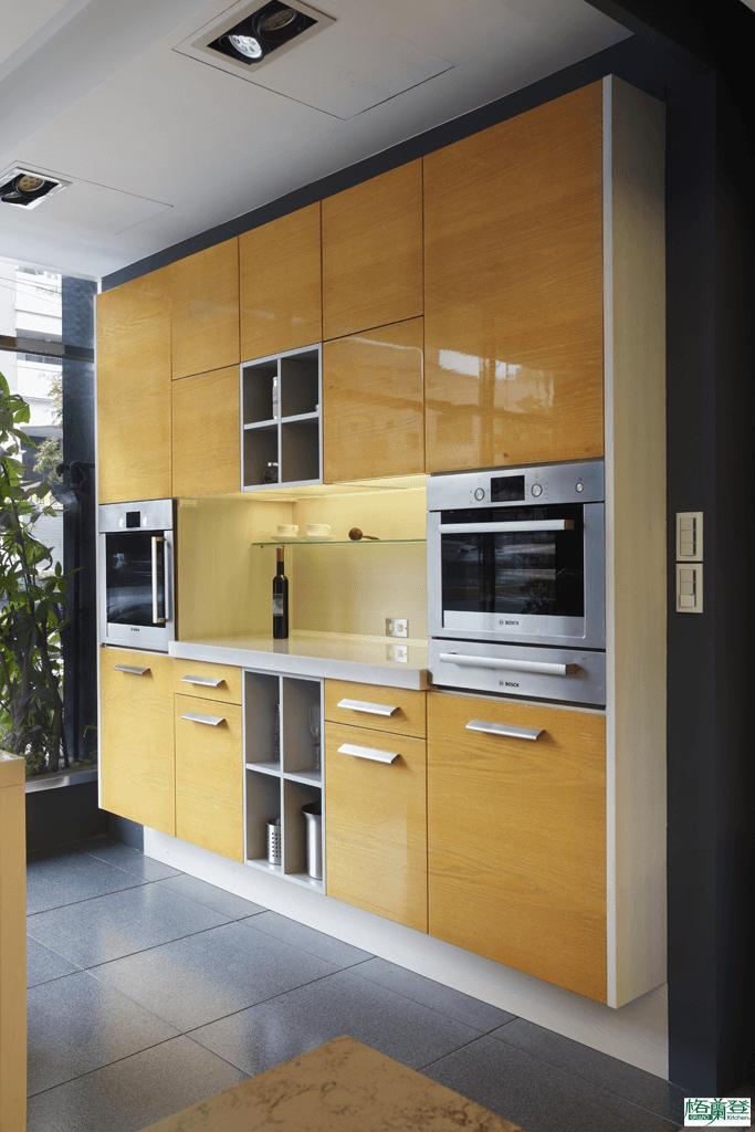 格蘭登廚具 現代極簡系列 新竹作品 樣品介紹 半崁懸吊櫃