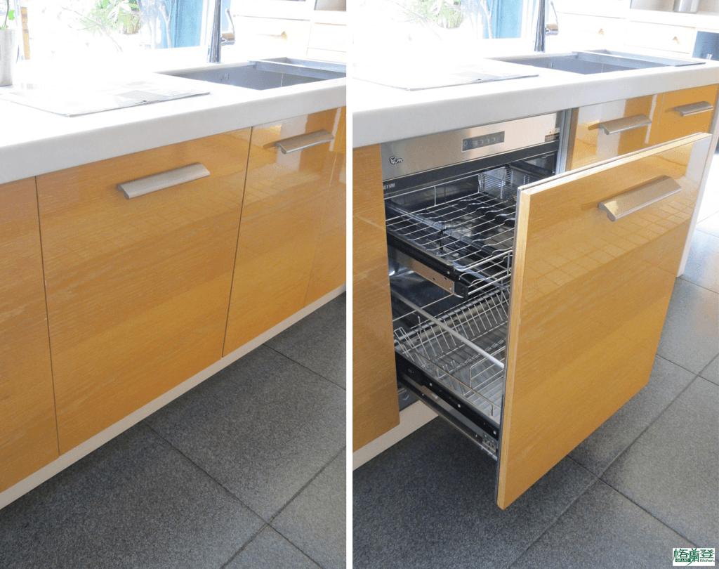 格蘭登廚具 現代極簡系列 新竹作品 樣品介紹 全嵌式烘碗機