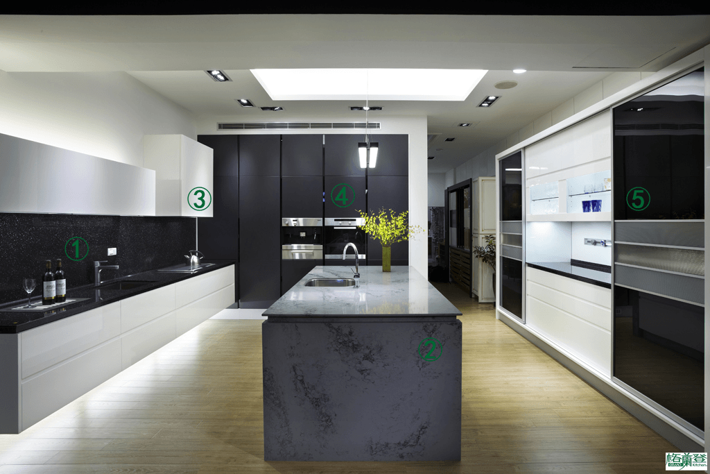 格蘭登廚具 現代極簡系列 新竹作品 特色指引圖