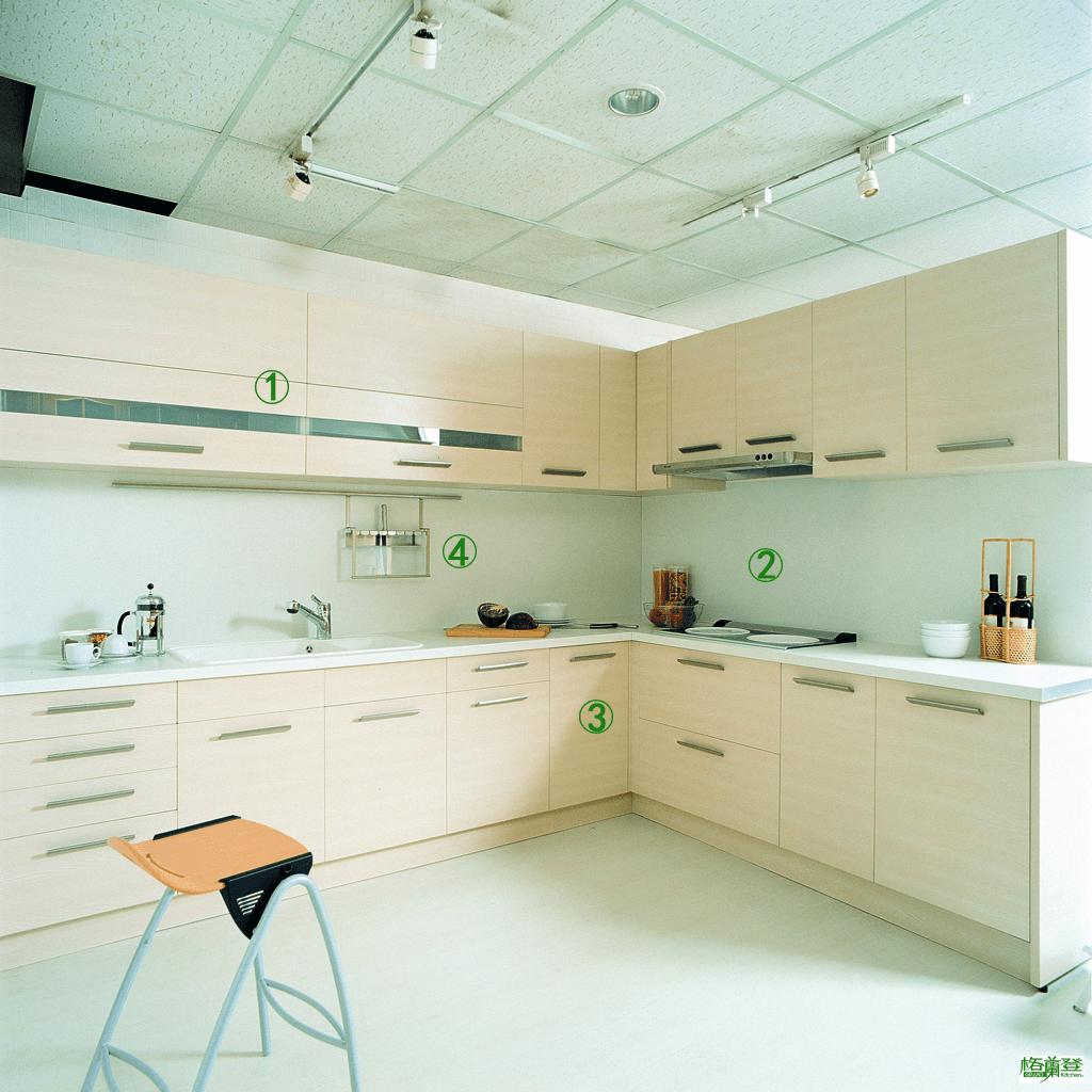 格蘭登廚具 現代極簡系列 梣木MFC 台北作品 特色指引圖